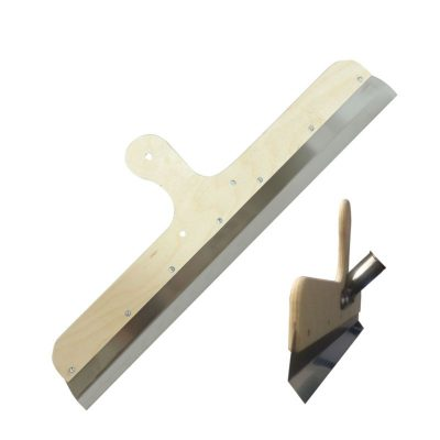 Flächenrakel Kratzspachtel-Rakel gekröpft mit vorgebohrten Löchern für Stielhaltermontage