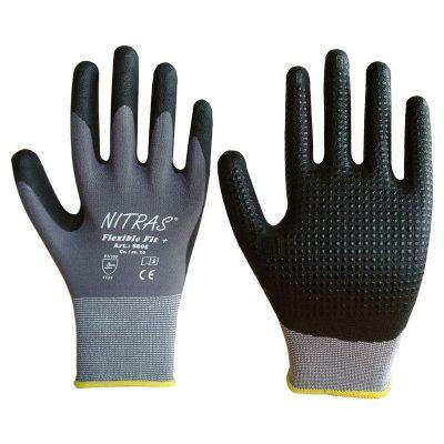Handschuhe aus Nitril-Pu mit Noppen