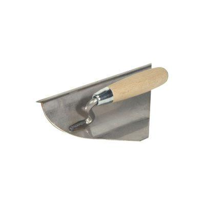 Hohlkehlenkelle mit Aufkantung beidseitig 45° abgeschrägt für Hohlkehlen-Sockel bis 6 cm