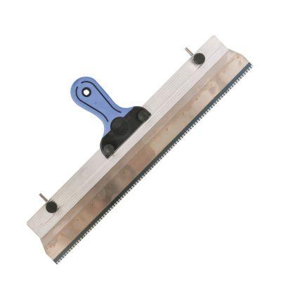 Klemmleisten-Rakel zur Aufnahme von Zahnleisten mit 560 mm Breite mit Stiften