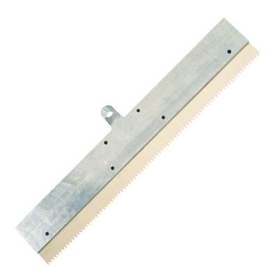Schraubleisten-Rakel zur Aufnahme von Zahnleisten und Gummizahnleisten bis Breite 560 mm