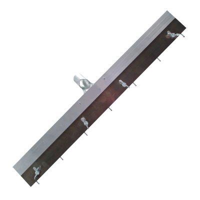 Stiftrakel mit montiertem Stielhalter und einstellbarer Stiftleiste bis 10 mm