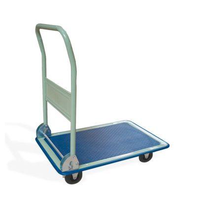 Transportwagen Plattenwagen auf Rädern, Schiebeeinheit umklappbar für Lasten bis 150 kg