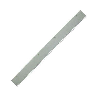Zahnleiste Gummi mit Spitzzahnung und ungezahnt für die Breiten 560 mm und 260 mm