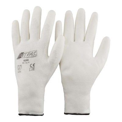 Handschuhe Schutzhandschuhe weiss Nylon teilbeschichtet