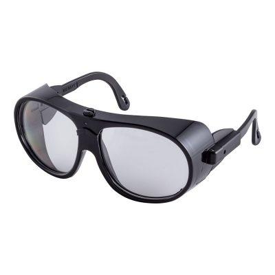 Schutzbrille Brille mit Seitenschutz klar zum Schutz der Augen bei Arbeiten, kratzfest, stossfest